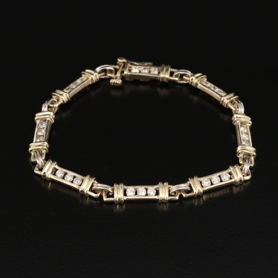 14K 1.00 CTW Diamond Bracelet