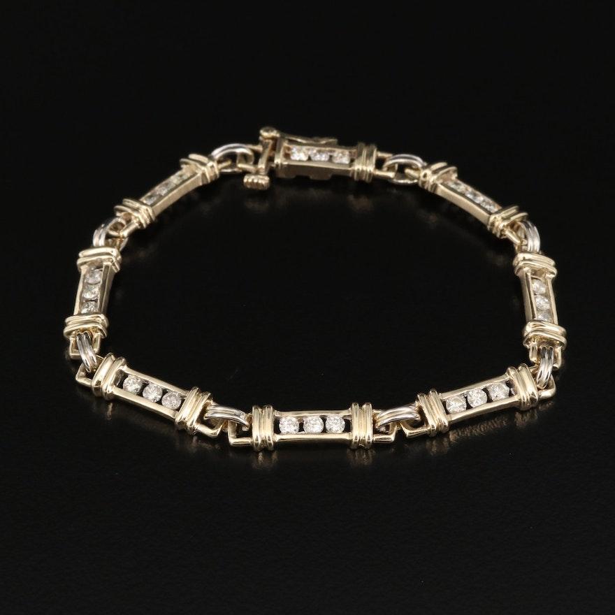 14K 1.00 CTW Diamond Bracelet