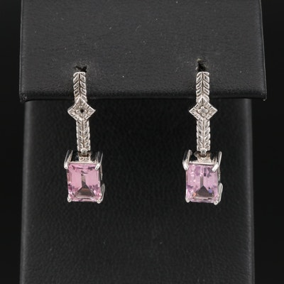 10K Sapphire and Diamond Earrings