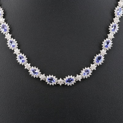 14K Tanzanite and 8.71 CTW Diamond Necklace