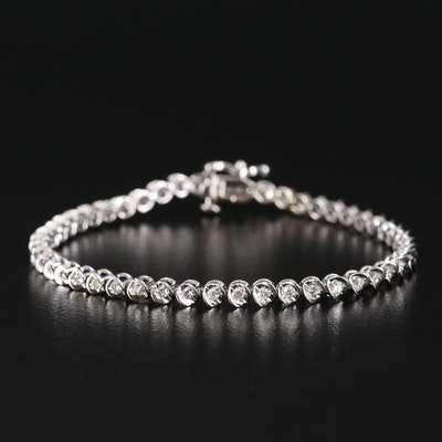 10K 1.00 CTW Diamond Tennis Bracelet