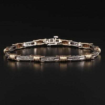 10K Two-Tone Diamond Bracelet