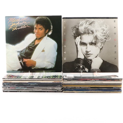 Michael Jackson, Madonna, Cyndi Lauper and Other Vinyl Pop and Rock Records