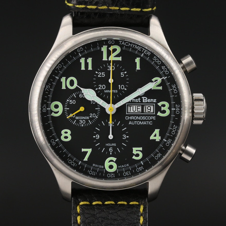Ernst Benz Stainless Steel Chronoscope Automatic Wristwatch