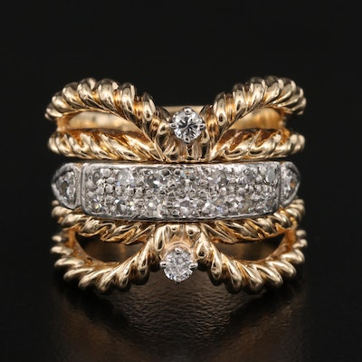 14K and Platinum Diamond Band and Jacket