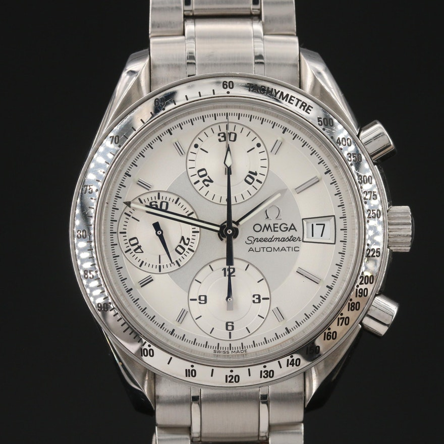 Omega Speedmaster Stainless Steel Automatic Wristwatch