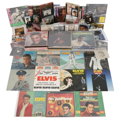 Elvis Presley Vinyl Records, Picture Sleeves and Other Memorabilia