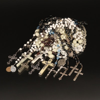 Rosaries Including Seed, Faux Pearl and Glass