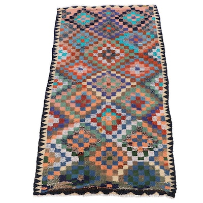 5'0 x 9'1 Handwoven Persian Kilim Wool Area Rug
