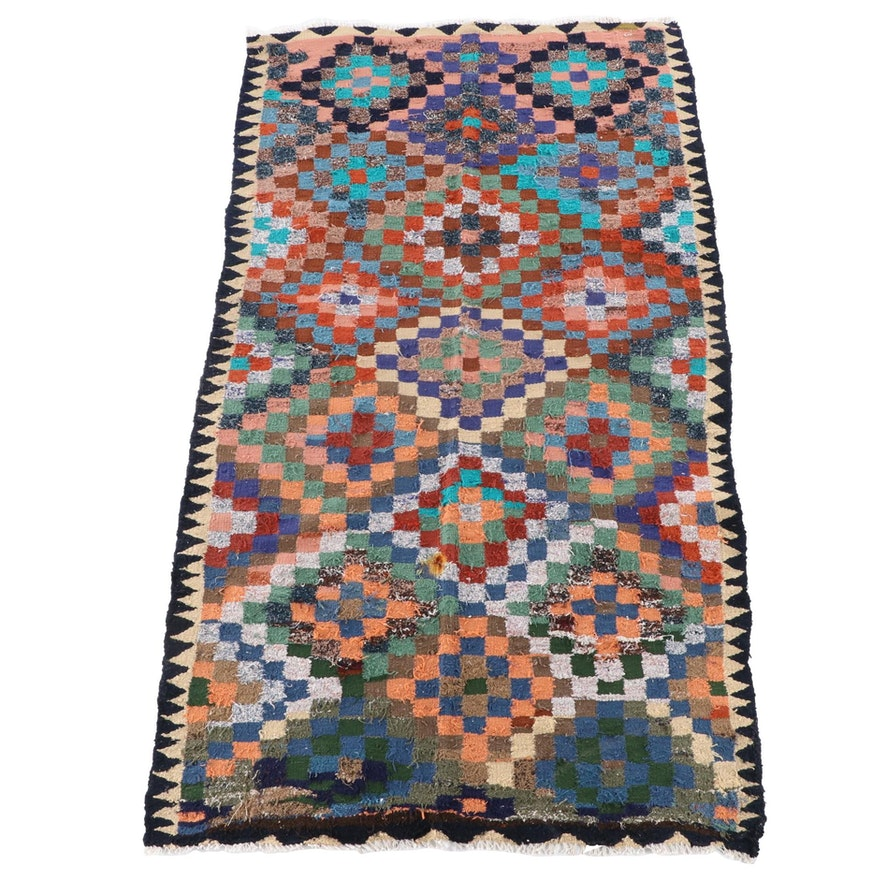 5'0 x 9'1 Handwoven Persian Kilim Wool Area Rug