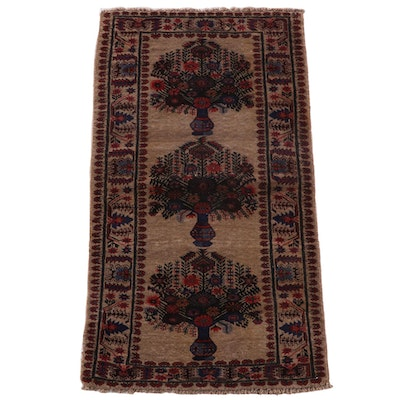 3'3 x 6'2 Hand-Knotted Afghan Baluch Wool Rug