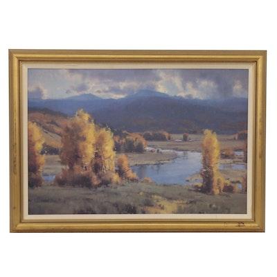 Western Landscape Offset Lithograph after Scott Christensen
