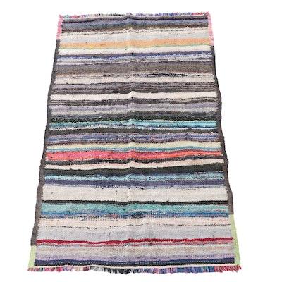 4'8 x 8'0 Handwoven Persian Area Rag Rug