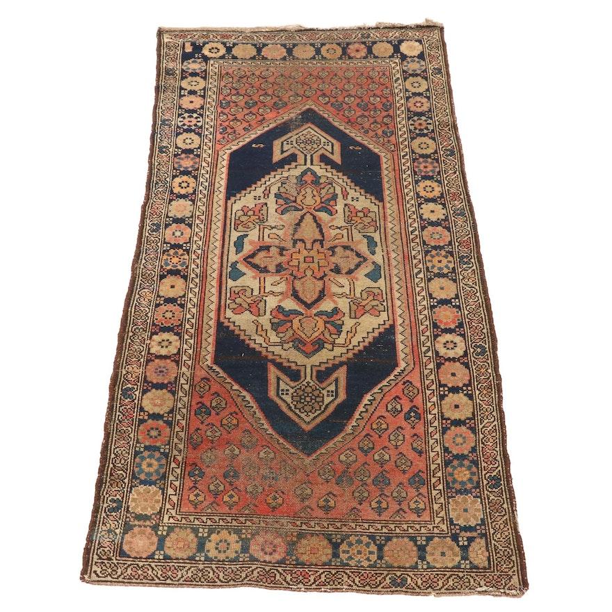 3'3 x 6'9 Handwoven Persian Kolyai Wool Area Rug