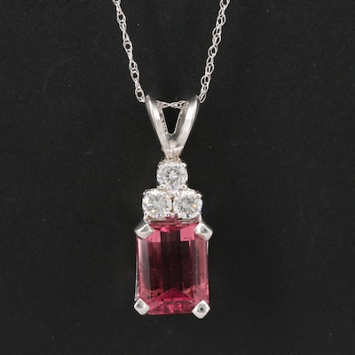 14K Tourmaline and Diamond Necklace
