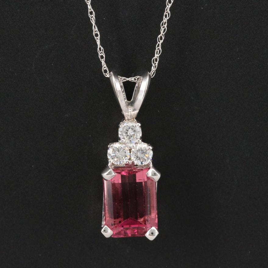 14K Tourmaline and Diamond Necklace