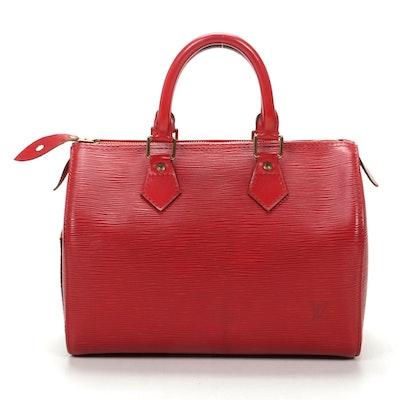 Louis Vuitton Speedy 25 in Red Epi Leather
