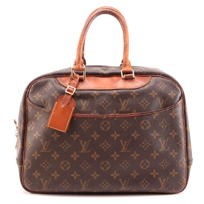 Louis Vuitton Monogram Deauville Boston Bag in Canvas and Leather