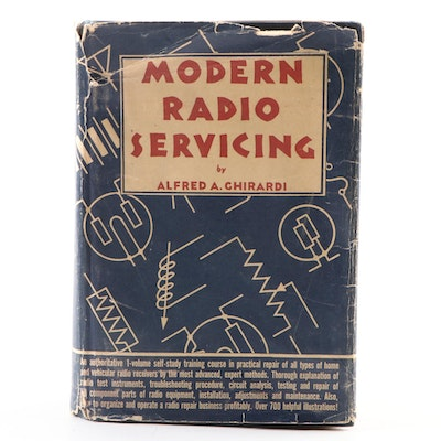 "First Edition ""Modern Radio Servicing"" by Alfred Ghirardi with Dust Jacket, 1935"