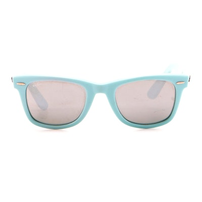 Ray-Ban RB 2140 Wayfarer Sunglasses in Turquoise with Case