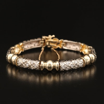 14K 1.30 CTW Diamond Lattice Style Bracelet