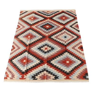 8'2 x 11'10 Handwoven Afghan Kilim Wool Rug