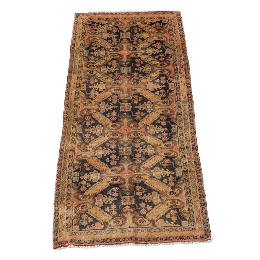 4'3 x 9'5 Hand-Knotted Caucasian Kuba Wool Rug