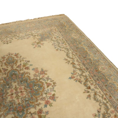 8' x 11' Hand-Knotted Indo-Persian Kerman Wool Area Rug