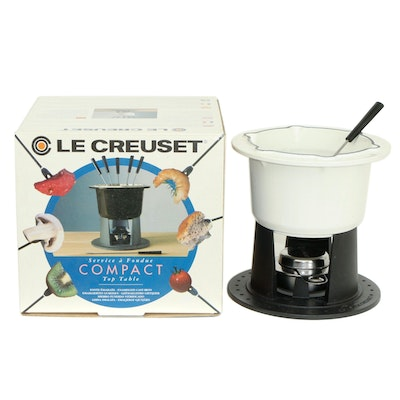 Le Creuset Ceramic Compact Top Table Fondue Set