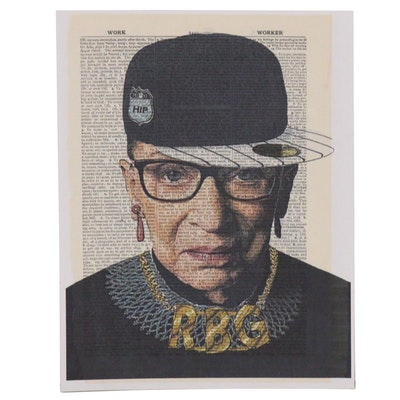 "Grant Rosen and Micha Ruechenhoff Pop Art Giclée of Ruth Bader Ginsburg ""RBG"""