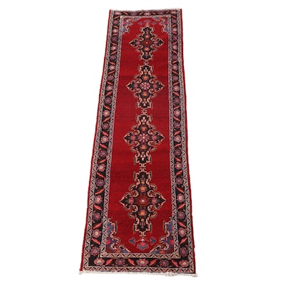 3'4 x 12'10 Hand-Knotted Persian Kerman Wool Carpet Runner