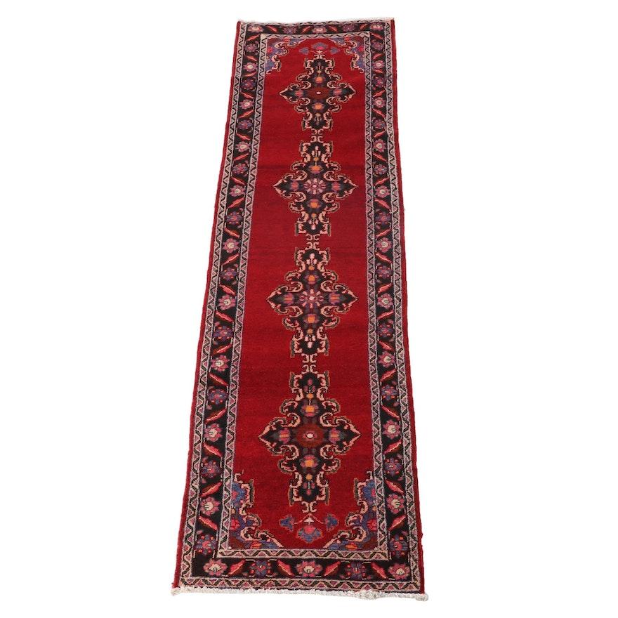 3'4 x 12'10 Hand-Knotted Persian Kerman Wool Carpet Runner