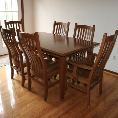 Handcrafted Amish Furniture Seven-Piece Dining Set