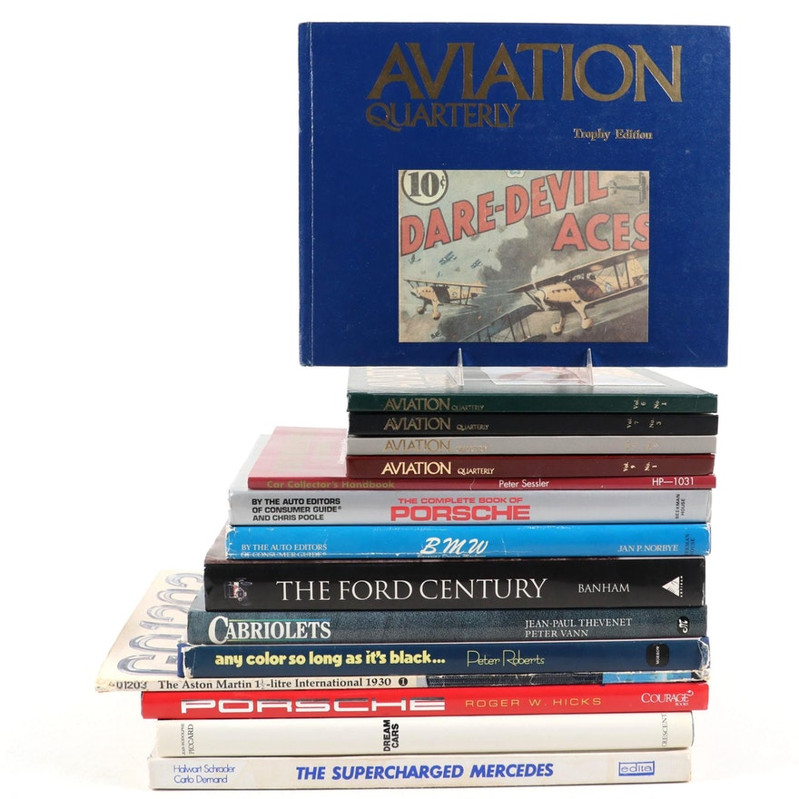"""""""Aviation Quarterly"""" Volumes with Automobile History and Reference Books"""
