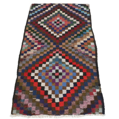 4'5 x 8'7 Handwoven Persian Kilim Wool Area Rug