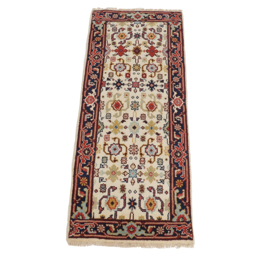 2'5 x 6'1 Hand-Knotted Indo-Persian Mahal Runner Rug