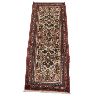 2'8 x 6'10 Hand-Knotted Persian Runner Rug