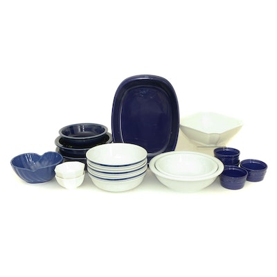 Fiesta, BIA Cordon Bleu, Chantal and Other Blue and White Kitchenware, 21st C.