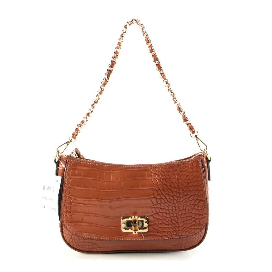 INC International Concepts Embossed Vegan Leather Shoulder Bag