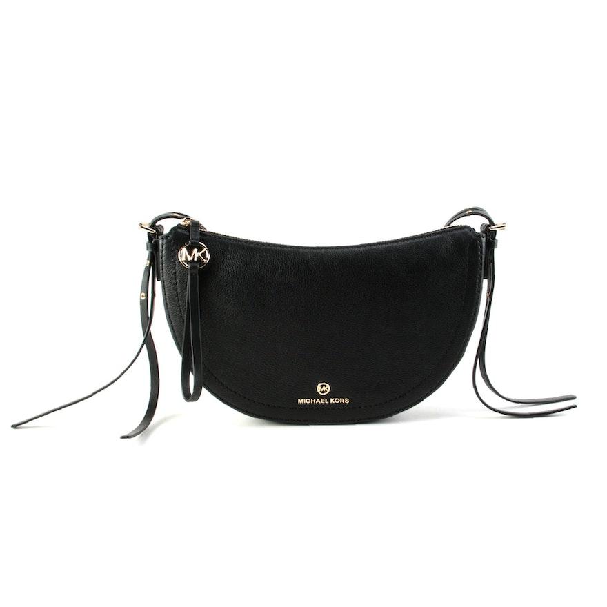 MICHAEL Michael Kors Camden Black Grained Leather Crossbody Bag