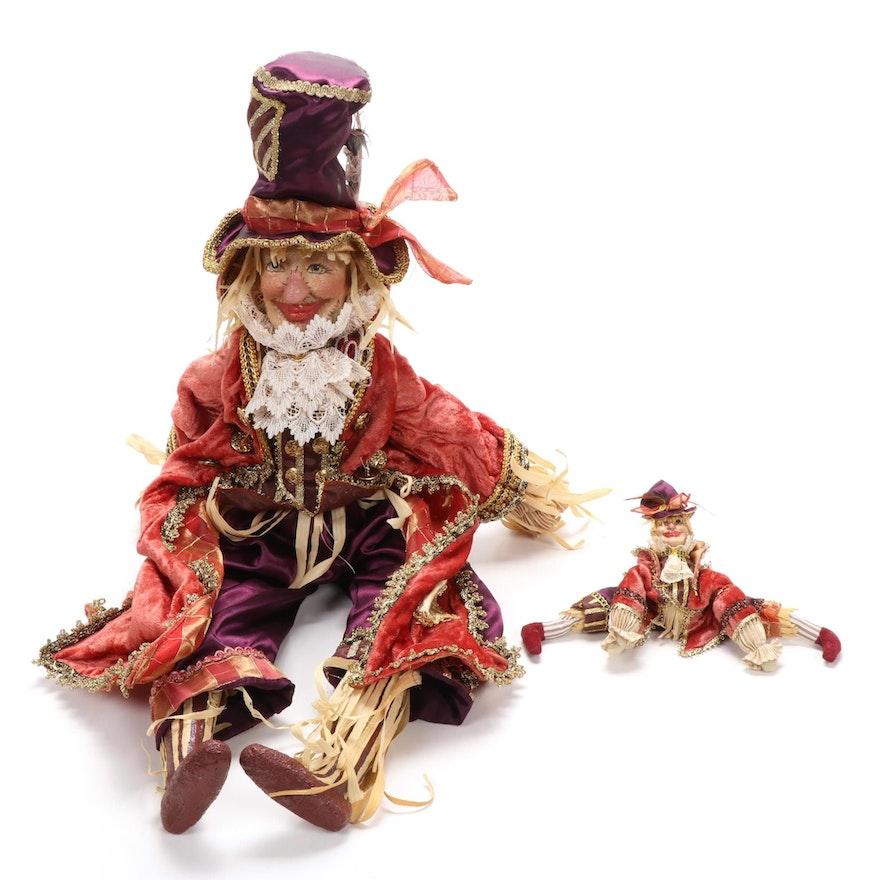 Wayne Kleski Scarecrow Dolls, Late 20th Century