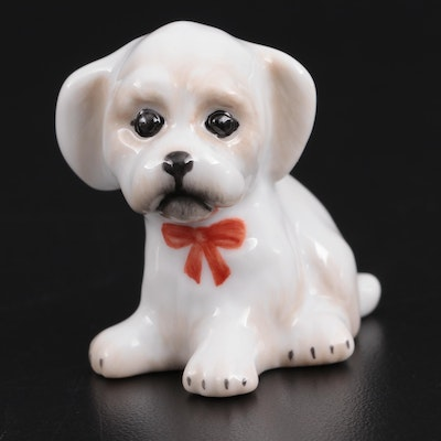 "Herend Natural ""Zoo Dog"" Porcelain Figurine"