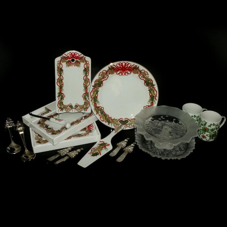 Andrea for Sadek, Mikasa and Williams-Sonoma Christmas Tableware