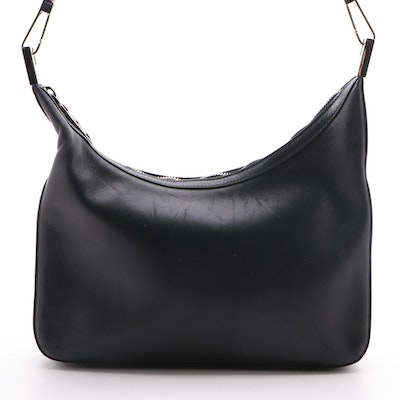 Gucci Black Leather Hobo Shoulder Bag