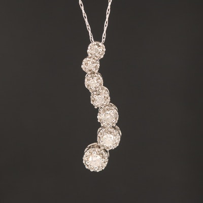 10K Diamond Journey Pendant Necklace