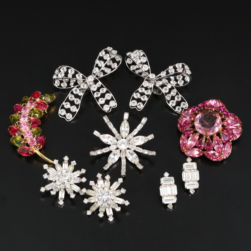 Weiss and Kramer Rhinestone Jewelry Featured in Vintage Jewelry Assortment