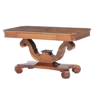 American Empire Revival Library Table, Early 20th Century
