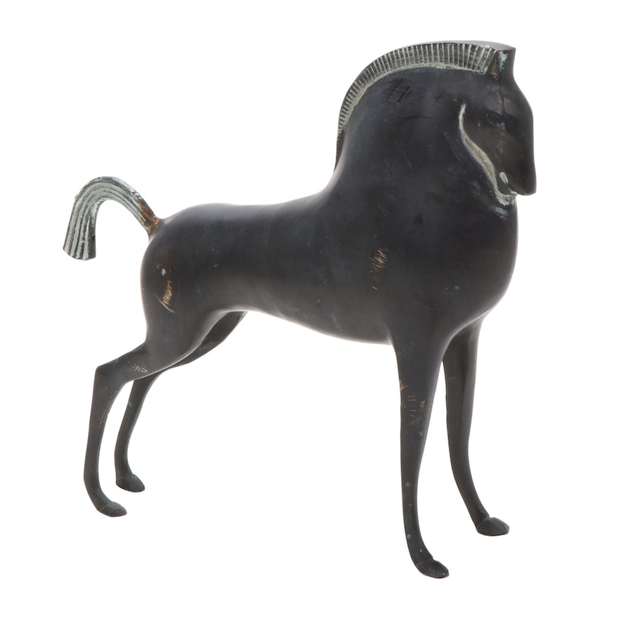 Metal Sculpture of Horse, Mid to Late 20th Century