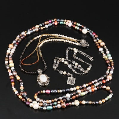 Necklace Assortment with Sterling and Gemstones