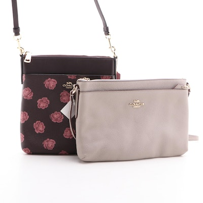 Coach Floral Kitt and Journal Leather Crossbody Bags